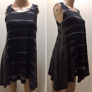 American Age black Tie dye laced Tank Top